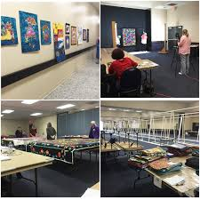 Quilt Show – Page 2 – Christa Quilts & Show prep, from @desertquiltersofnevada on Instagram. Clockwise: hanging  art quilts, photography of each and every piece in the show, quilt frame  assembly, ... Adamdwight.com
