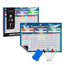 Magicfly Magnetic Chore Chart For Multiple Kids 17 X 12 Inch Dry Erase Behavior Chart With Full Magnet Back For Fridge Refrigerator Teaches Kids