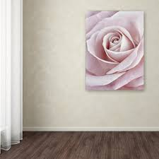 trademark fine art 32 in x 24 in pink rose by cora on pink rose canvas wall art with trademark fine art 32 in x 24 in pink rose by cora niele printed
