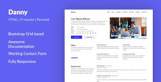Resume Html Template Awesome Danny Web Developer Resume HTML Template By Aspirity ThemeForest