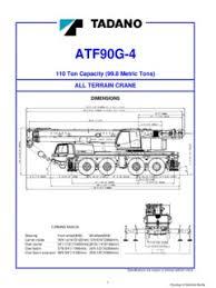 All Terrain Cranes Tadano Atf 90g 4 Specifications Cranemarket