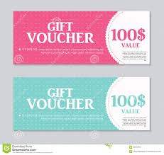 gift certificates format gift voucher template with sample text vector stock vector