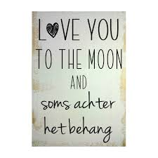 Tekstbord Love You To The Moon Mbsdesign