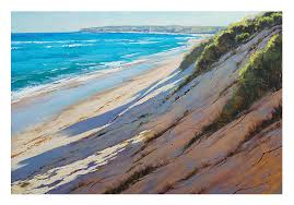 beach oil paintings impressionist sand dunes art by gerckengallery
