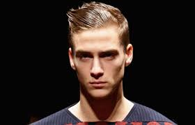 short quiff hairstyle at z zegna a strong hold gel was used to create this