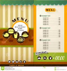 Design A Menu Free 004 Restaurant Menu Vector Brochure Cover Design Template