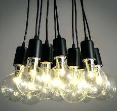 edison light bulb chandelier diy style