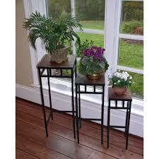Decorations:Wrought Iron Plant Stand Idea Innovative Plant Shelf Decorating  Ideas