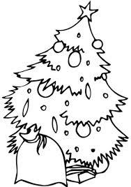 Versierde Kerstboom Met Een Zak Kleurplaat Gratis Kleurplaten Printen