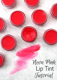 neon pink lip tint tutorial learn how to make lip tint using cocoa