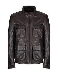 belstaff men s new brad leather jacket dark brown