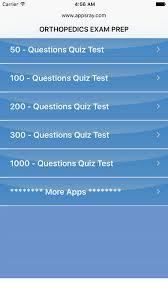 Ортопедия Контрольные вопросы в app store Снимок экрана iphone 1