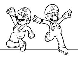 Mario And Luigi Coloring Page Free Printable And Coloring Pages