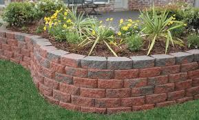 sloped garden brick landscape edging