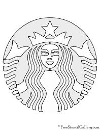 Starbucks Logo Stencil Crafts