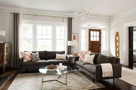 example of a trendy living room design in atlanta with white walls