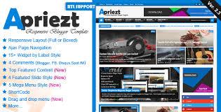 Apriezt V 2 3 Responsive Magazine News Blogger Theme Bloggers Safe