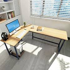 modern l shaped office desk. tribesigns modern lshaped desk corner computer pc latop study table workstation for home office wood u0026 metal amazoncouk kitchen l shaped e