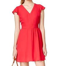 Maison Jules Size Chart Maison Jules New Red Barberry Womens Size 2xl Empire Waist Flare Dress
