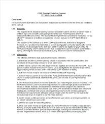 Example Of Catering Contract Service Contract Template Canada