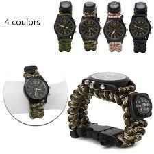 popular military survival watch buy cheap military survival watch 2017 brand men s fashion casual sport watches men waterproof paracord survival quartz watch man military clock