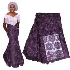 2019 High Quality Purple French Nigerian Lace Fabric African Tulle ...