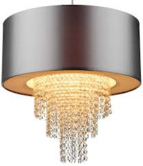dar lopez silver ceiling pendant lamp shade with drops lop6532 inside shades decorations 0