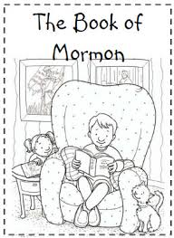 Small Picture Book of Mormon Coloring Sheet