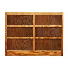 wood bookcases cherry with doors bookshelves glass solid
