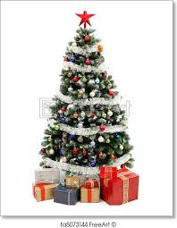 christmas trees decorated with presents.  Presents Free Art Print Of Christmas Tree On White With Presents To Trees Decorated With Presents E
