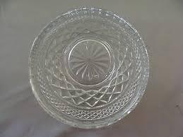 vintage wexford clear glass sugar bowl w lid creamer tray by anchor hocking