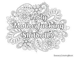 Free Swear Word Coloring Pages Pdf Thewestudio