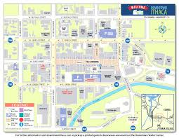 maps directions downtown ithaca alliance best of printable map