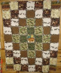 109 best Soft, comfy, cozy, handmade quilts images on Pinterest ... & Outdoor hunting themed flannel rag quilt Adamdwight.com