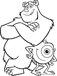 coloring templates for kids.  Templates Monster Pictures For Kids Monsters 3 PRINTABLE COLORING  Coloring Pages And Templates