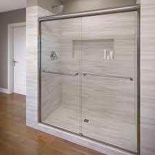 celesta semi frameless sliding shower door fits 56 60 inch opening clear