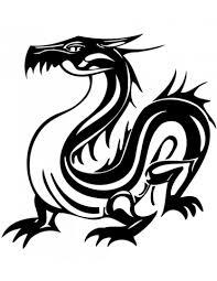 Disegno Di Tatuaggio Di Drago Orientale Da Colorare Disegni Da