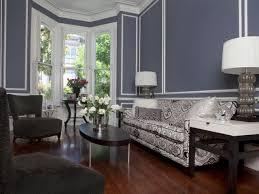 blue living room wall frame molding gray walls homes alternative