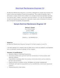 Electrical Maintenance Engineer Sample Resume