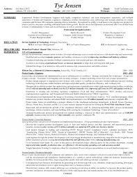 Product Manager Resume Sample Pdf Format Download Resumes Job And