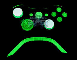 Xbox 360 Controller Designs Template Glow In The Dark Custom Xbox 360 Elite Controller From