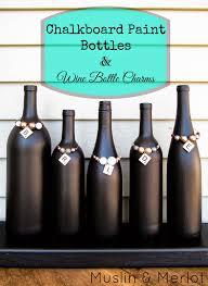 Chalkboard Paint Bottles & Wine Bottle Charms