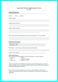 Admission Form Template Job Application Word Format College