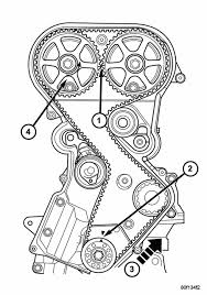 Timing belt alignment marks graphic graphic graphic
