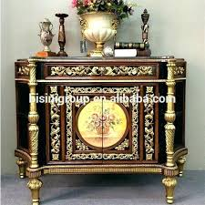 antique round entry hall table luxury replica console golden foyer front decor