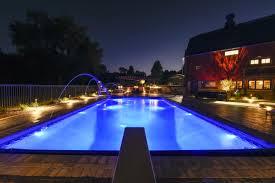 inground pools at night. Night View Waukesha Inground Pools At I