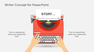 Story Book Powerpoint Template Writer Concept Metaphor Powerpoint Shapes