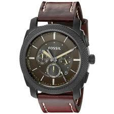 mens fossil watch leather fossil men s fs5121 machine chronograph dark brown leather strap date watch
