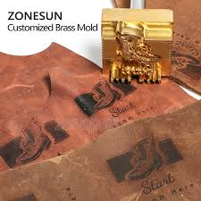 zonesun 20mm thickness customized stamp brand logo design embossing hot staming leather stamping mold for shoes