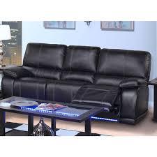 electra reclining bonded leather sofa 20 382 30 mbk image 1